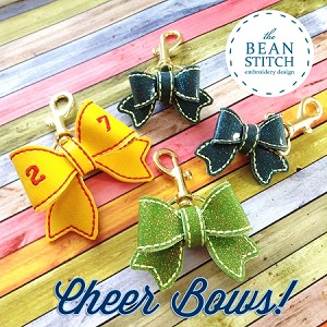 Cheer Bows!   -  THREE Sizes INCLUDED!!!