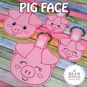 Pig Face - TWO Styles and TWO Sizes INCLUDED!!! BONUS Multis!