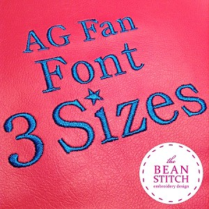 AG Fan Font - THREE sizes INCLUDED!!!