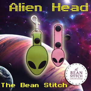 Alien Head - TWO(2) Sizes Included!