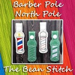 Striped Pole North Pole  Barber Pole - Includes THREE designs in TWO Styles!
