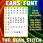 Ears Font - FIVE Sizes INCLUDED!!!