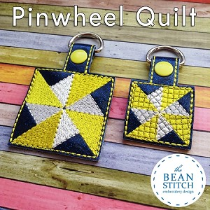 Quilt Pinwheel - TWO sizes AND Two Styles Included !!!