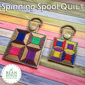 Quilt Spinning Spools - TWO sizes AND Two Styles Included !!!