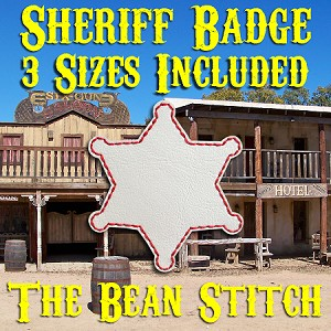 Sheriff Badge Feltie - 3 Sizes!