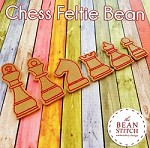 Chess Set - Feltie Bean - 6 Designs and TWO Sizes INCLUDED!!!