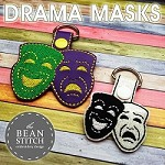 Drama Masks - TWO Sizes INCLUDED!  BONUS Multis!!!