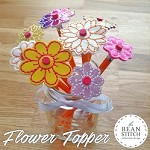 Flower Topper - TWO Styles and THREE Sizes INCLUDED!  BONUS Multis!!!