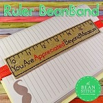 Ruler BeanBand -  Imperial and Metric Systems Versions INCLUDED!!!  THREE SIZES!!!