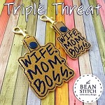 Triple Threat -  TWO Sizes and TWO Designs!!! Mom AND Mum Versions INCLUDED :D
