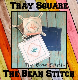 Tray Square THREE SIZES and FREE Mr Mrs Miss
