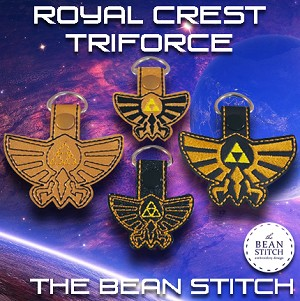 Royal Crest Triforce - Includes TWO DESIGNS and TWO Sizes!!!