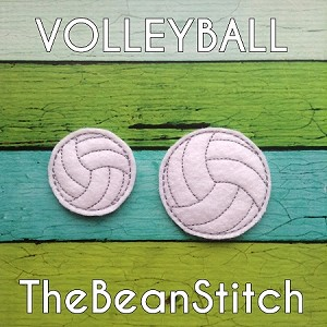 Volleyball Feltie Bean - 2 Sizes included!  PLUS Bonus!